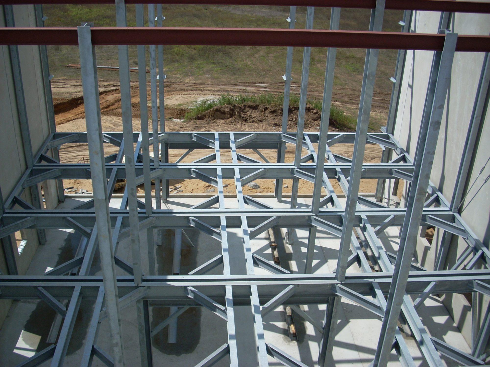 Structural Framing for Platform (Bells Brewing)